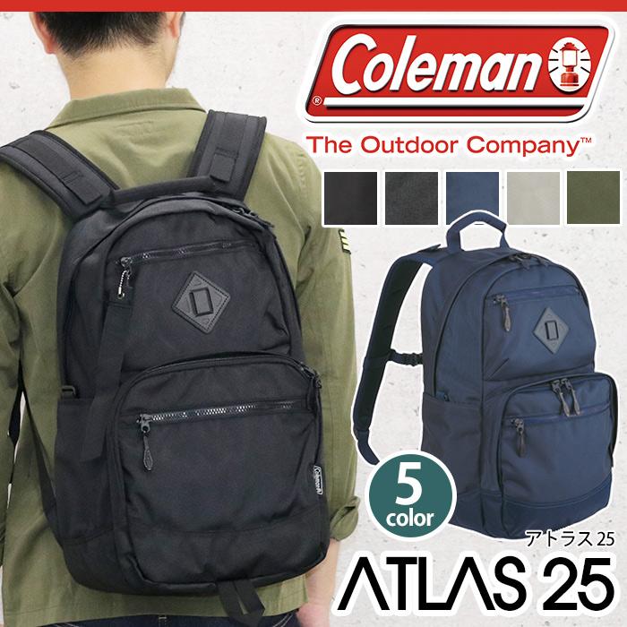 【正規品】 Coleman コールマン ATLAS アトラス 25 リュック リュックサック メンズ レディース 男女兼用 ブラック ネイビー 25L ATLAS 25