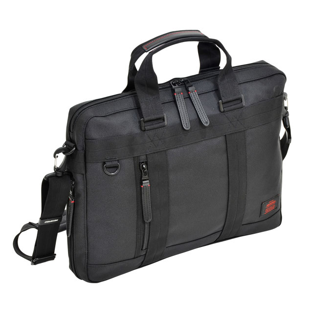 NEOPRO RED ブリーフ底ファスナー付 / ネオプロ レッド PC パソコン タブレット 収納 キーハーネス キャリーにセット カジュアル ビジネス 多機能 ナイロン 革 エンドー鞄