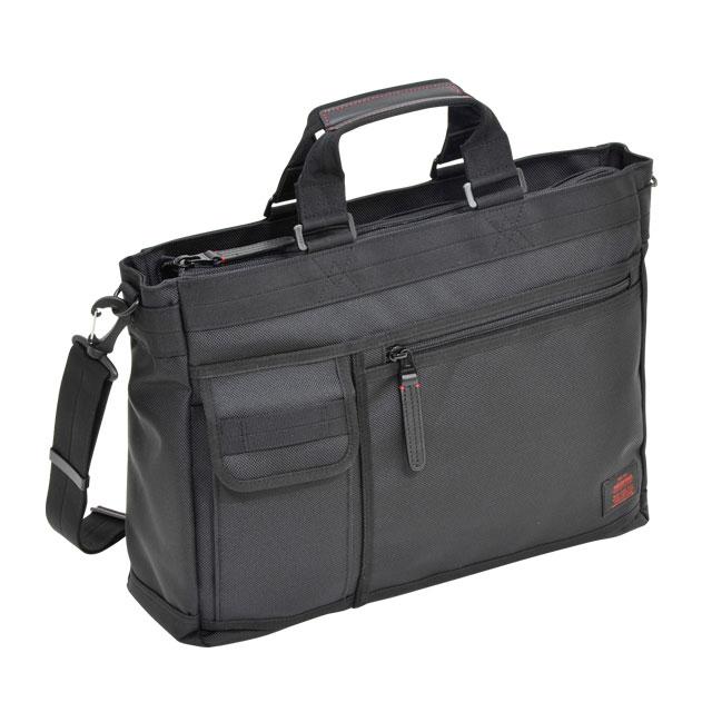 NEOPRO RED トートビジネス / ネオプロ レッド ショルダー PC パソコン タブレット 収納 キーハーネス ボトルポケット キャリーにセット カジュアル ビジネス 多機能 ナイロン 革 エンドー鞄