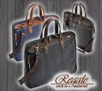 REGALE JARRICO 三方開きブリーフ / レガーレ ジャリコ ショルダー 薄マチ 三方ファスナー フロントポケット PVC ヌメ革 国内製造 エンドー鞄