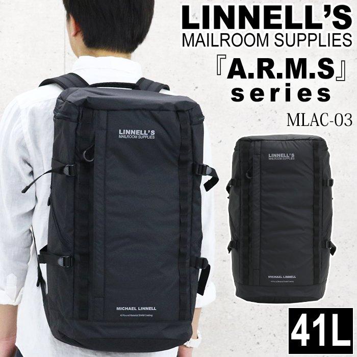 MICHAEL LINNELL マイケルリンネル リュック リュックサック デイパック バックパック スクエア ビジネス メンズ レディース 男女兼用 黒リュック 大容量 41L アームズ ARMS MLAC-03