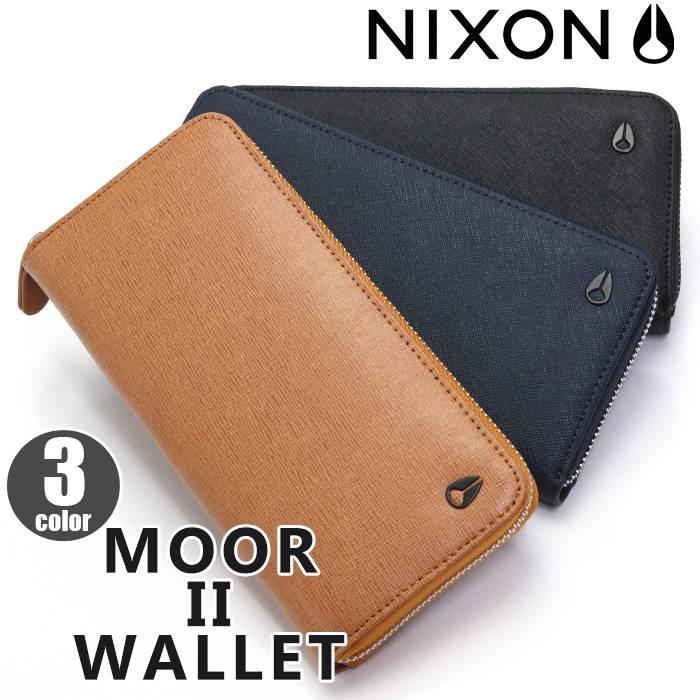 【正規品】 NIXON ニクソン Moor II Wallet ムーア 2 ウォレット 長財布 財布 メンズ レディース 男女兼用 ロングウォレット 黒 NC2726