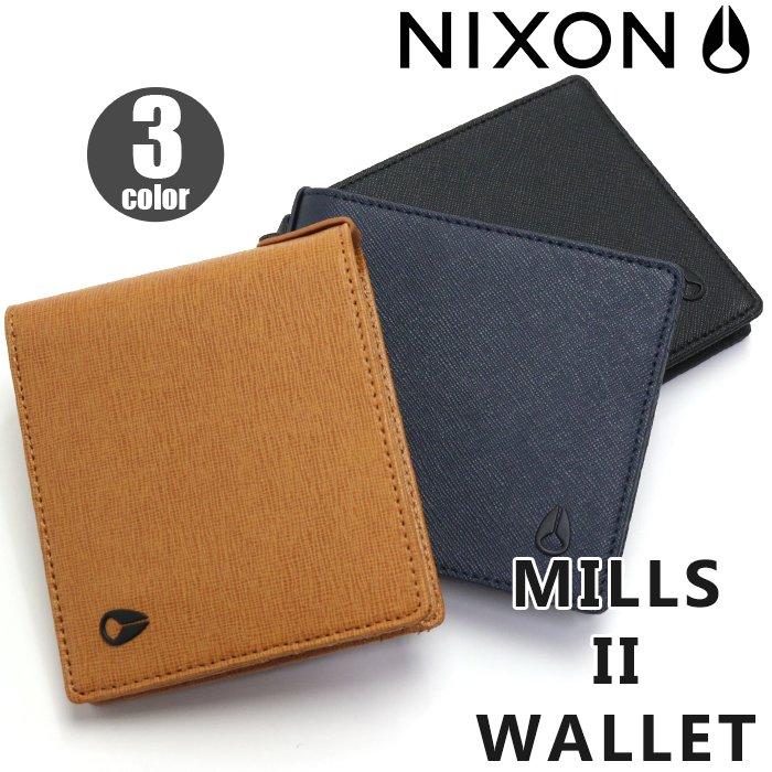 【正規品】 NIXON ニクソン Mills II Wallet ミルズ 2 ウォレット 二つ折り財布 財布 メンズ レディース 男女兼用 黒 NC2727