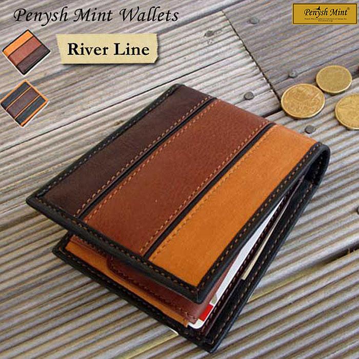 ペニッシュミント Penysh Mint 財布 リバーライン River Line 二つ折り財布 ウォレット レザー 牛革 グローブレザー メンズ ビジネス カジュアル