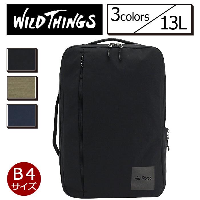 WILD THINGS ワイルドシングス リュックサック スクエアタイプ ビジネスDパック 2wayバッグ 2wayリュック メンズ レディース 男女兼用 ブラック WT-380-0132