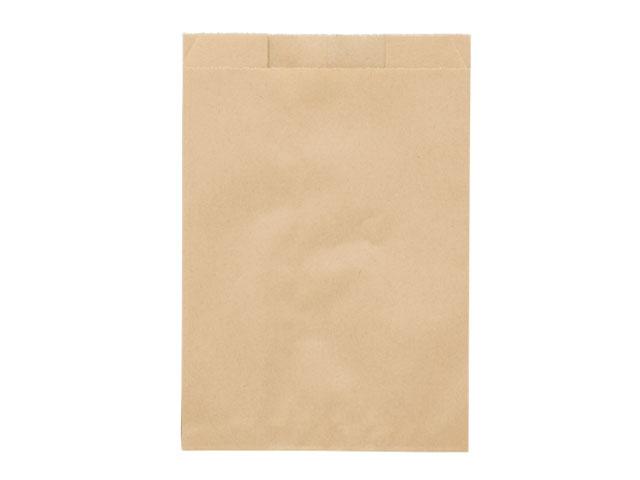 【ケース出荷】入数4000 【4000枚/ケース】耐油紙無地袋 小 未晒耐油紙無地マチ付袋(小) 120(マチ70)×160+13mm カレーパン包装 揚げ物包装 包み紙 持ち帰り 00597461