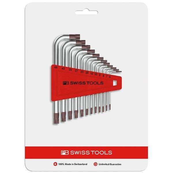 【あす楽】PBスイスツールズ(PBSWISS PBSWISSTOOLS)L型へクスローブレンチ12本セット【T6-T45】410H6-45CN  410H645CN