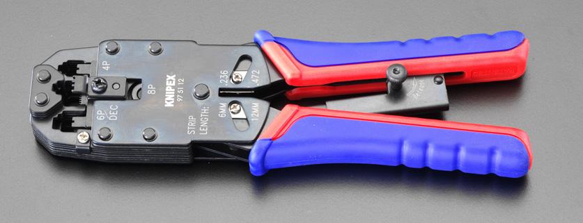クニペックス(KNIPEX)ウエスタンプラグ用圧着ペンチ9751-12 975112