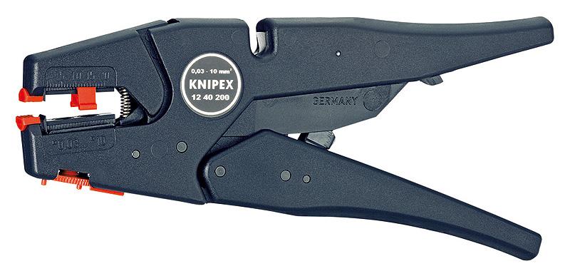 【あす楽】クニペックス(KNIPEX)ストッパー付きワイヤーストリッパー1240-200 1240200