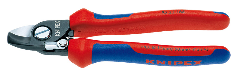 クニペックス(KNIPEX)スプリング付強力ケーブルカッター 165mmコンフォートハンドル9522-165 9522165