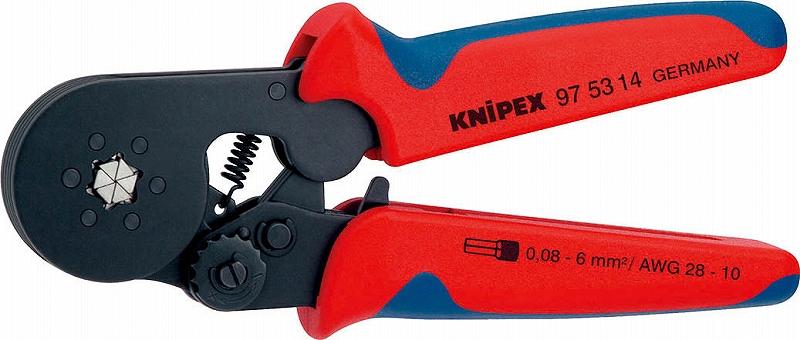 クニペックス(KNIPEX)エンドスリーブ用圧着ペンチ六角形状圧着9753-04 975304
