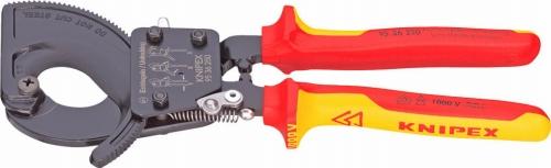 クニペックス(KNIPEX)ラチェット式絶縁ケーブルカッター250mmコンフォートハンドル9536-250 9536250