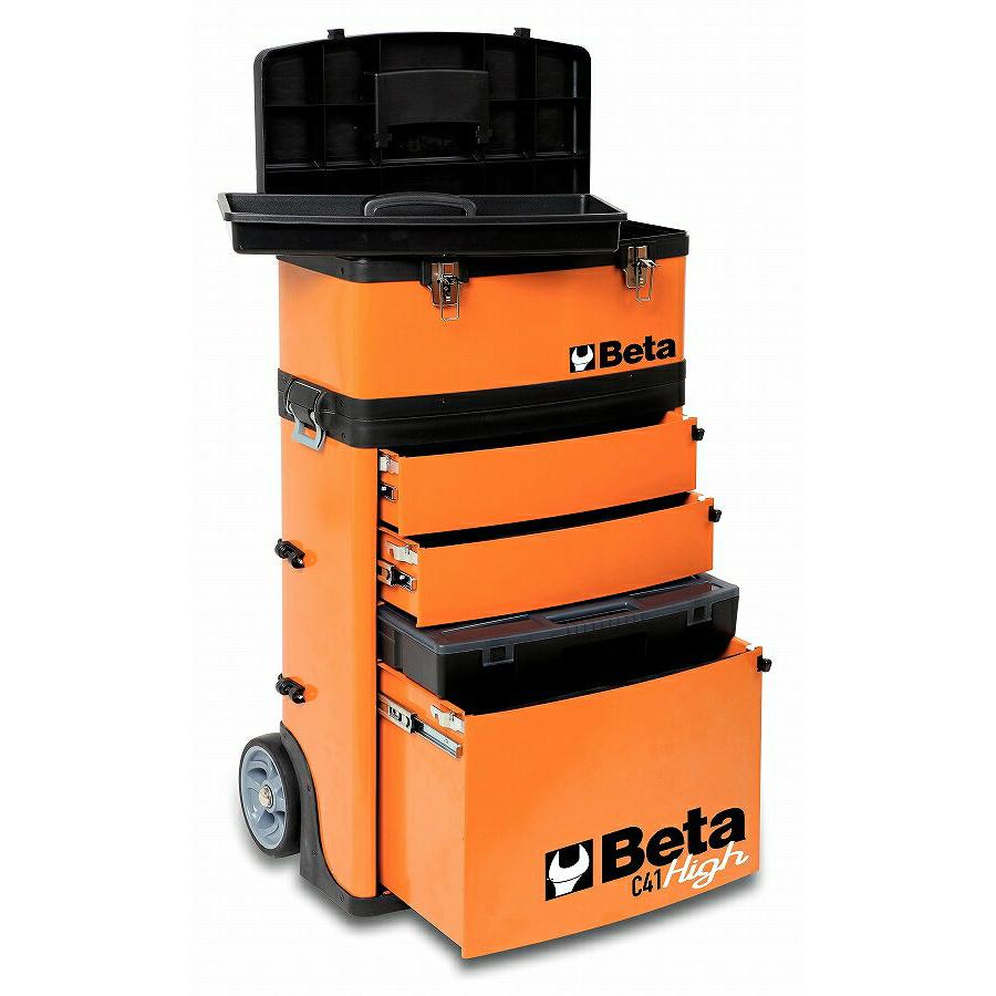 【予約受付中】Beta(ベータ)メタルツールトロリー【オレンジ】C41H-O
