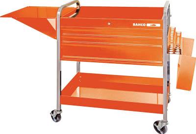 バーコ(BAHCO)【1470KC5】ロールカート3段引き出し+2トレイ オレンジ