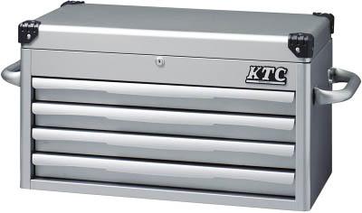 KTC(京都機械) トップチェスト(4段4引出し)シルバーEKR-1004  EKR1004