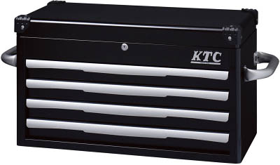 KTC(京都機械) トップチェスト(4段4引出し)ブラックEKR-1004BK  EKR1004BK