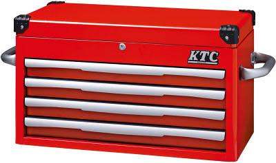 KTC(京都機械) トップチェスト(4段4引出し)レッドEKR-1004R  EKR1004R