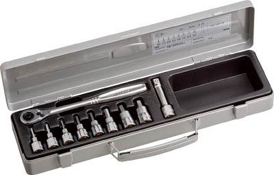 TONE(前田金属工業 トネ とね) ヘキサゴンソケットレンチセット 吋目 10pcs