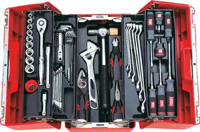 KTC(京都機械) 12.7sq.工具セット(両開きプラハードケース)[52点組]SK4526P  SK4526P