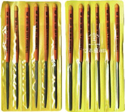 ツボサン 組ヤスリセット 12本組 細目ST012-03  ST01203