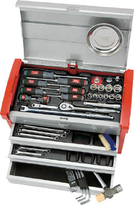 KTC(京都機械) 12.7sq.工具セット(チェストケース)SK4580E  SK4580E