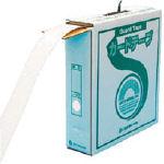 緑十字 ラインテープ(ガードテープ) 白 再剥離タイプ 50幅×100m 屋内用