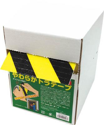 カーボーイ 手で切れるやわらかトラテープ 15cm×10M