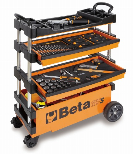 【予約受付中】Beta(ベータ)フォールディングツールトロリー(工具箱 ツールケース キャビネット)C27S  C27S