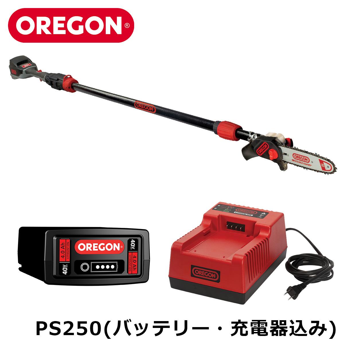 OREGON PS250-A7 CTS 電動ポールソー 高枝チェンソー バッテリー式 コードレス 高性能 オレゴン【バッテリー、充電器込み】