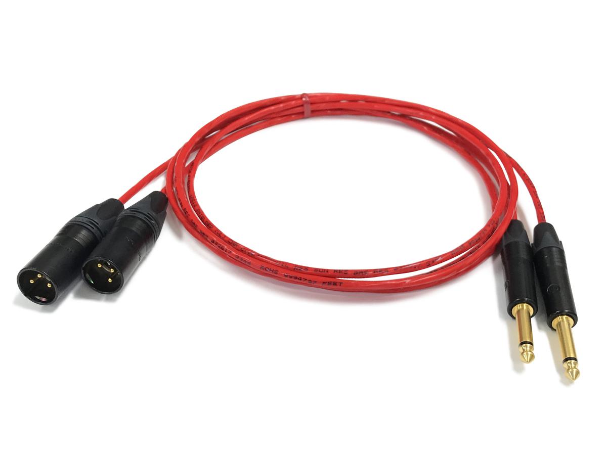あらゆるクセが無い音Neutrik ノイトリック社のプラグ最高品質のオーディオケーブル ラインケーブル TSフォン金-XLRオス金 BELDEN ベルデン 限定価格セール 88760 前側プラグ 14.0m 長さ XLRオス金 本数 人気上昇中 2本 TSフォン金 後側プラグ