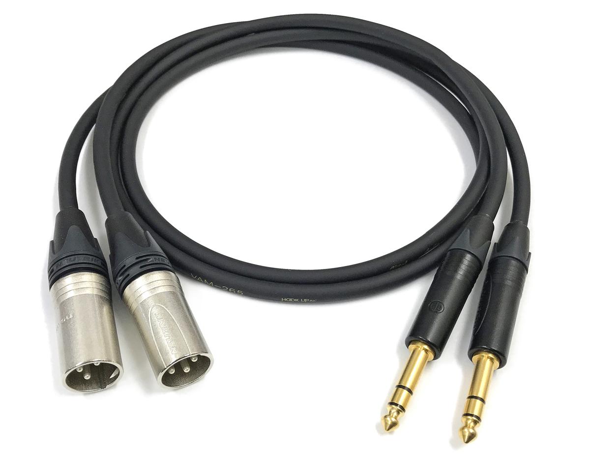お買得 英国音楽のスタンダードNeutrik ノイトリック社のプラグ最高品質のオーディオケーブル ラインケーブル VITAL バイタル VAM-265 前側プラグ XLRオス銀 後側プラグ お値打ち価格で 長さ 1.5m TRSフォン金 本数 2本