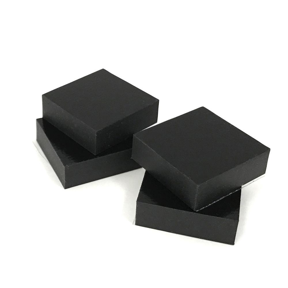 割引も実施中 最先端ハイテク衝撃吸収素材ソルボセイン1センチ厚インシュレーター 再入荷/予約販売! 3センチ角ソルボセイン4枚セット 粘着テープなし 黒色