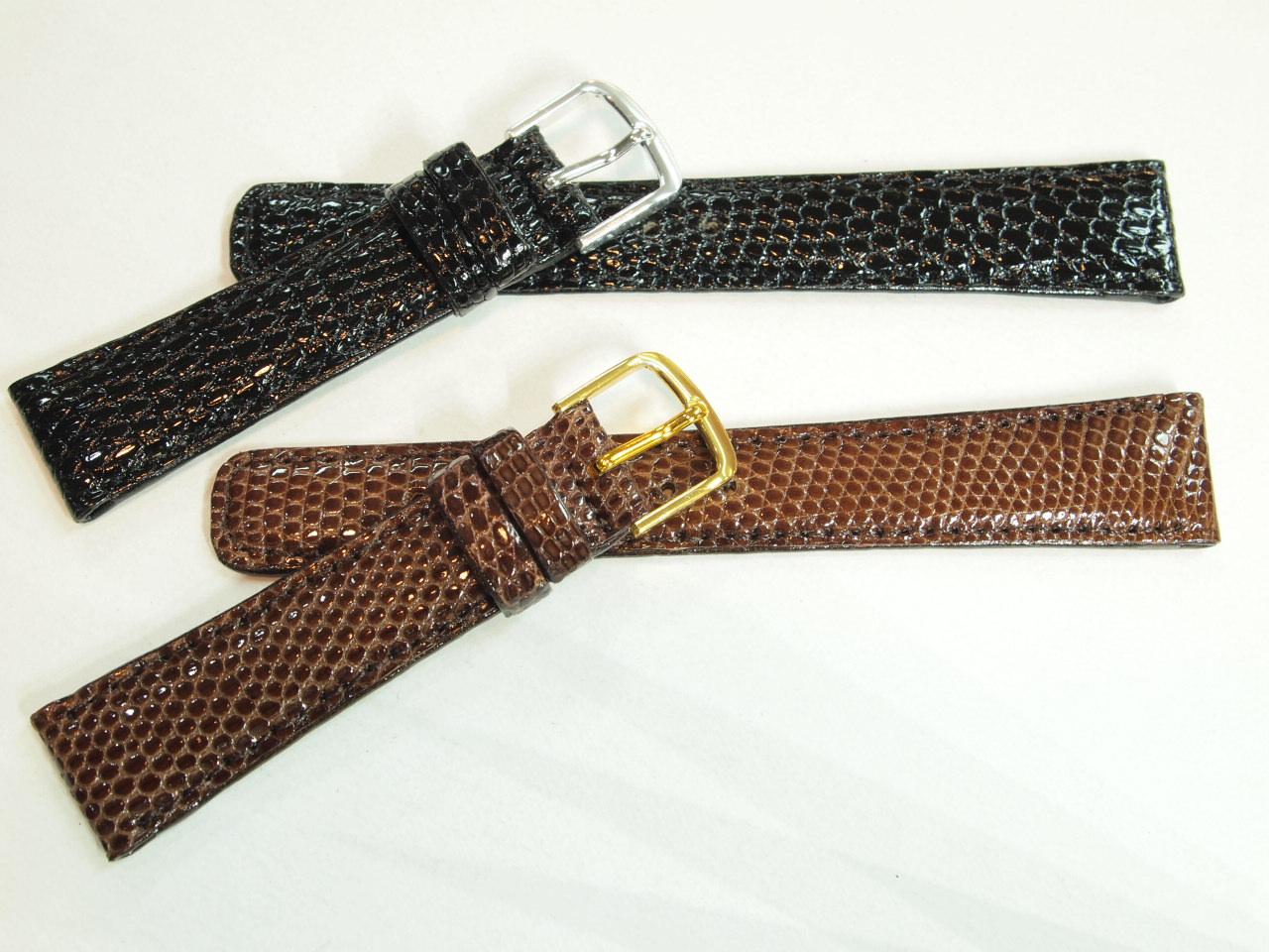 High-quality lizard (lizard) leather clock band