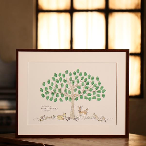 ゲストブック 結婚証明書 芳名帳 贈答 weddingtree ウェディングツリー 売り込み in ウェルカムボード the ウェディング インザフォレスト forest