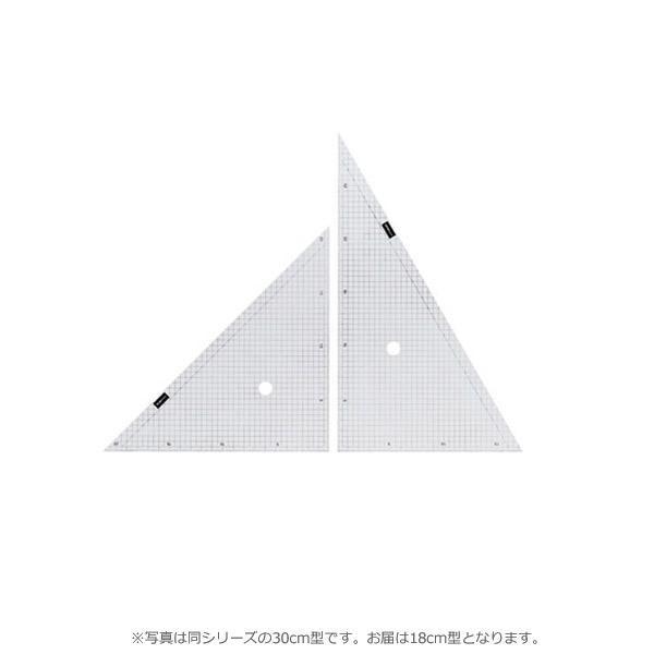 5mm方眼入りの三角定規 新着 クーポンあり 豊富な品 方眼三角定規 18cm型 7-470-0002