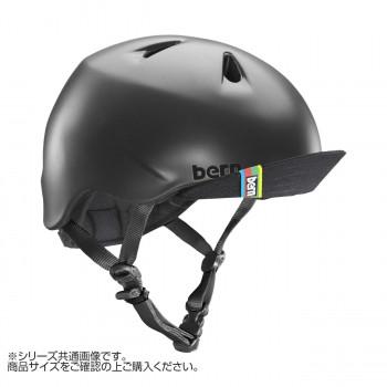 送料無料 シンプルでスタイリッシュなデザインを落とし込んだNINO クーポンあり bern バーン ヘルメット キッズ VISOR BE-VJBMBKV-12 MT 出荷 NINO S-M BLACK スーパーセール