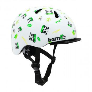 【クーポンあり】【送料無料】bern バーン ヘルメット ベビー TIGRE SATIN WHITE PANDA LOGO XXS BE-BB00Z18SWP-10