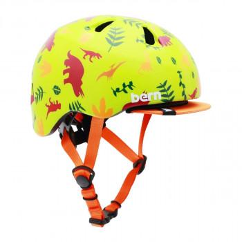 【クーポンあり】【送料無料】bern バーン ヘルメット ベビー TIGRE SATIN GREEN DINO XXS BE-BB00Z18SGD-10