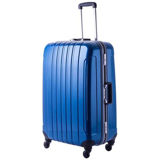 【クーポンあり】【送料無料】協和 MANHATTAN EXP (マンハッタンエクスプレス) 軽量スーツケース フリーク Lサイズ ME-22 ブルー・53-20032/鏡面シェルと軽量深溝フレームを採用した軽量スーツケース!!