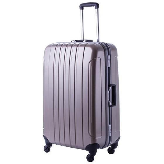 【クーポンあり】【送料無料】協和 MANHATTAN EXP (マンハッタンエクスプレス) 軽量スーツケース フリーク Lサイズ ME-22 ゴールド・53-20039/鏡面シェルと軽量深溝フレームを採用した軽量スーツケース!!