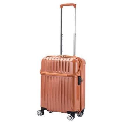 【クーポンあり】【送料無料】協和 ACTUS(アクタス) 機内持込対応 スーツケース トップオープン トップス Sサイズ ACT-004 オレンジカーボン・74-20316 トップオープン機能でスマートに荷物を収納できるスーツケース。