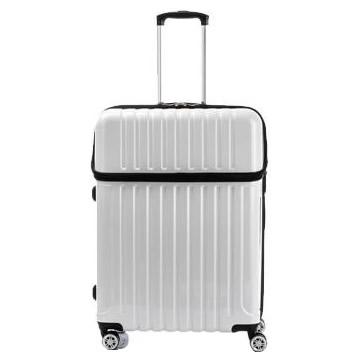 【クーポンあり】【送料無料】協和 ACTUS(アクタス) スーツケース トップオープン トップス Lサイズ ACT-004 ホワイトカーボン・74-20339/トップオープン機能でスマートに荷物を収納できるスーツケース。
