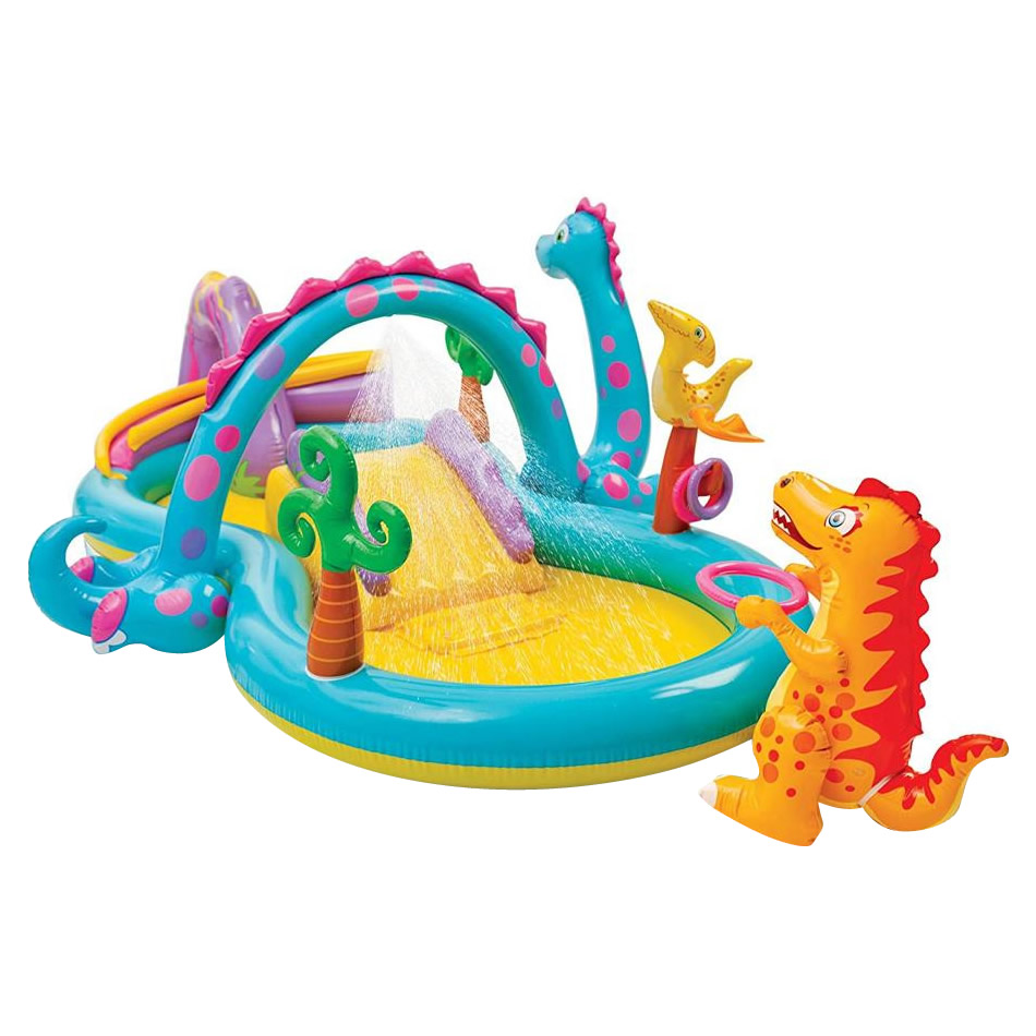 【クーポンあり】【送料無料】INTEX(インテックス) ビニールプール家庭用 ディノランドプレイセンター 57135 ご家庭で楽しくプール遊び♪みんなで遊べる、大きめサイズ。