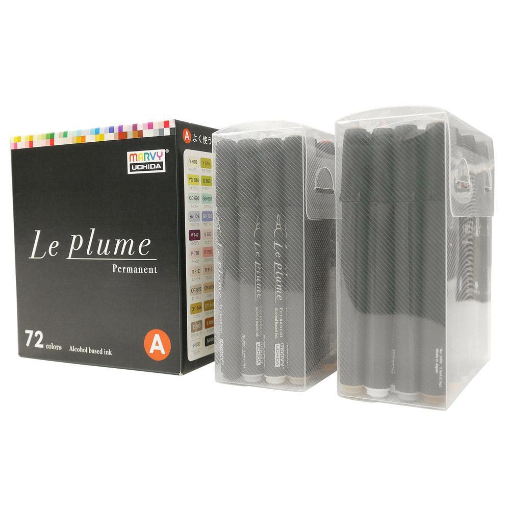【11%クーポン】【送料無料】ルプルーム 72色Aセット(黒軸) 3000B-72A ルプルームパーマネント基本72色セット。
