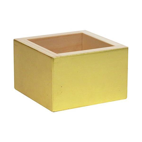 【クーポンあり】【送料無料】加飾枡 8勺枡 金箔 MK-01 全面に金箔を施した、豪華な国内産檜枡。