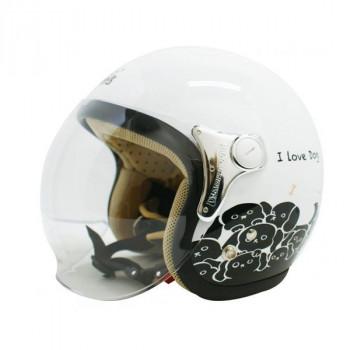 【最大ポイント20倍】【送料無料】ダムトラックス(DAMMTRAX) カリーナ ヘルメット WHITE/DOG