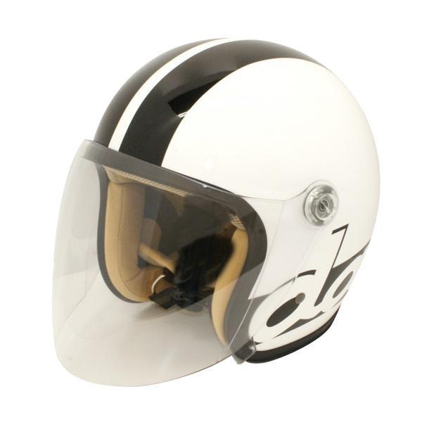 【クーポンあり】【送料無料】ダムトラックス(DAMMTRAX) JET-S DAMM&RAX dammflapper ヘルメット WHITE/BLACK スポーティなデザインのヘルメット。