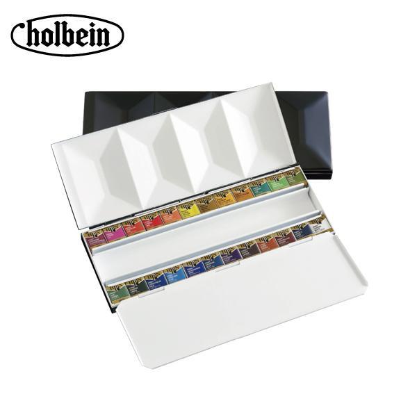 【クーポンあり】【送料無料】ホルベイン 固形水彩絵具 パンカラー PN682 24色セット(メタルボックス) 2682 携帯しても色がばらけにくいメタルボックスセット。