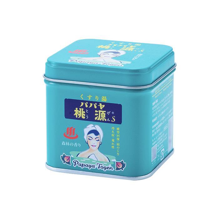 【クーポンあり】【送料無料】五洲薬品 薬用入浴剤(医薬部外品) パパヤ桃源S 森林の香り 70g缶×40個