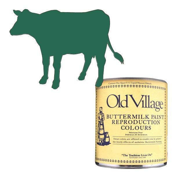 【クーポンあり】Old Village バターミルクペイント ファンシー チェア グリーン 946mL 605-03052 BM-0305Q 美しいマットな仕上がりのペンキです。
